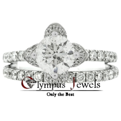 2.92CT H-SI2 CERTIFIED DIAMOND ENGAGEMENT RING 18KW