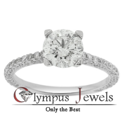 2.05CT G-I1 CERTIFIED DIAMOND ENGAGEMENT RING 18KW