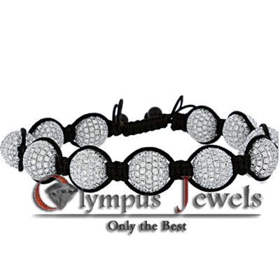 34.28CT SHAMBALLA BRACELET 10KW SET WITH DIAMONDS