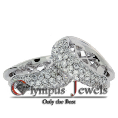 1.42CT 18K WHITE GOLD CUSTOM DIAMOND EARRINGS!!