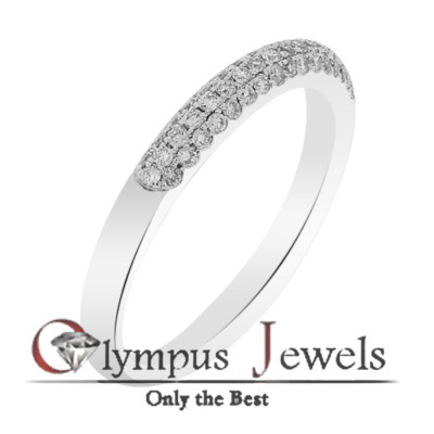 0.38CT F-G SI1 CERTIFIED DIAMOND WEDDING BAND 18KW