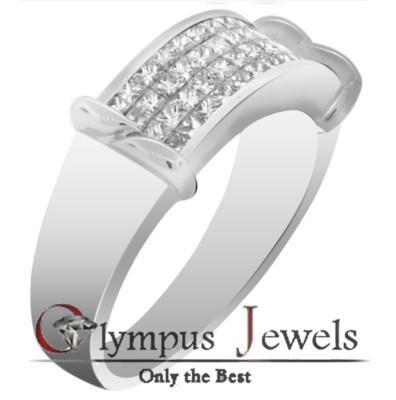 1.45CT H SI2-SI3 CERTIFIED DIAMOND WEDDING BAND 18KW