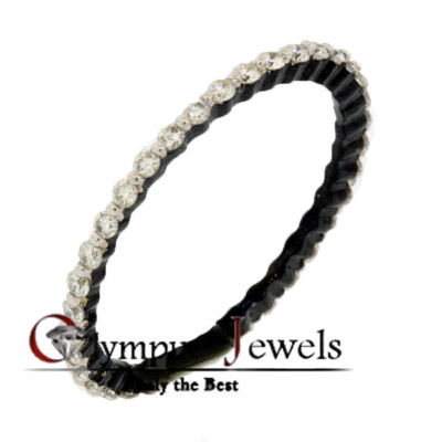 0.51CT F-G SI2-SI3 CERTIFIED DIAMOND WEDDING BAND 18KB