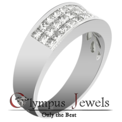 1.45CT F-G VS2-SI1 CERTIFIED DIAMOND WEDDING BAND 18KW